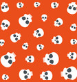 skull head pattern background vector image