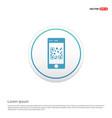 smart phone icon hexa white background icon vector image