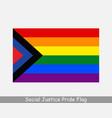 social justice gay pride flag rainbow flag lgbtq vector image