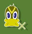 Sticker icon in flat style duck