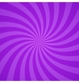 Swirling radial purple pattern background vector image vector image