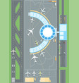 top view of the airport - modern colorful vector image vector image