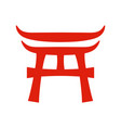 torii japanese gate of shinto shrine vector image