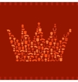 Trophies and awards icons in the form of crown vector image vector image