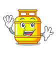 waving gas tank operating the character cooking vector image vector image