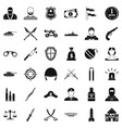 weapon icons set simple style vector image vector image