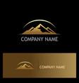 gold mountain nature logo vector image
