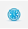 Moon phases alarm clock blue icon vector image