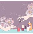 Nail art salon vector image