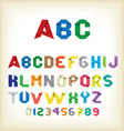 colorful origami alphabet vector image