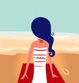 Cute summer girl on beach vector image