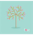 Love tree with hearts and leaves Flat design vector image