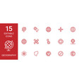 15 geography icons vector image vector image