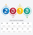 2018 business startup planning infographic vector image vector image