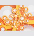 abstract retro circle wallpaper vector image