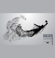 abstract silhouette a football player on white vector image