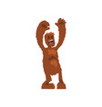 angry ferocious bigfoot mythical creature cartoon vector image