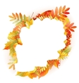 Autumn abstract floral background with copyspace vector image vector image
