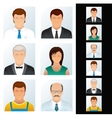 Avatar People Icons vector image vector image