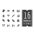 BBQ and Food Icons Set Outdoor Kitchen or vector image vector image