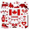 canada sign and symbol info-graphic elements flat vector image vector image