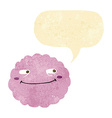 cartoon happy cloud with speech bubble vector image
