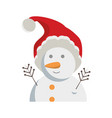 cartoon snowman icon vector image vector image