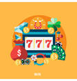 Casino Pockie Machine Round Composition vector image vector image