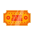 Circus show paper tickets icon cartoon style vector image vector image