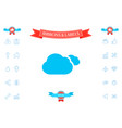 clouds symbol icon vector image