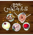 cocktails bar top view vector image