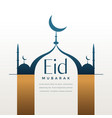 creative eid festival greeting with text space vector image vector image