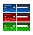 Credit Card set Business design template vector image