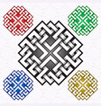 cruciform logo template in celtic knots style vector image vector image