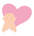 cute little baboy crawling vector image