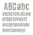 english alphabet with dotted texture vector image vector image