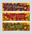 Fall sale banners autumn offer and season