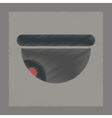 flat shading style icon security camera vector image vector image