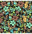 floral pattern green vector image vector image