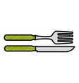 fork and knife cutlery isolated icon vector image vector image