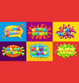 game room posters fun kids playroom games vector image