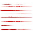 grungy textured lines for damage effects set of vector image vector image