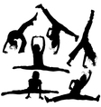 Gym girls silhouettes vector | Price: 1 Credit (USD $1)