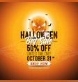 halloween sale with scary vector image vector image