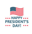 happy presidents day label united states federal vector image vector image