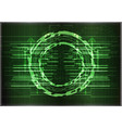 high tech set of lines on a green background vector image vector image
