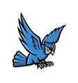 horned owl swooping mascot vector image vector image