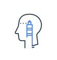 human head profile and lighthouse psychology vector image vector image