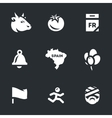 Icons Set of Race bulls in Spain vector image vector image