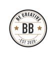 Initial letter bb elegance logo design template